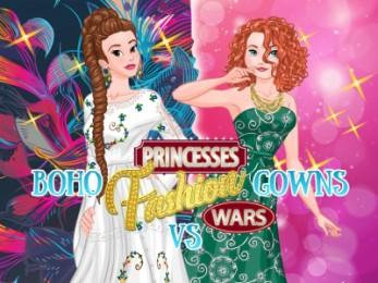 Princesses Fashion Wars: Boho VS Gowns