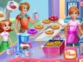 Annie Cooking Donuts