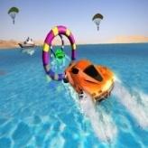 Floating Water Surfer Car Driving : Beach Racing