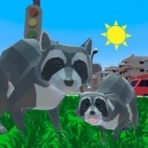 Raccoon Adventure City Simulator 3D