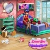 Dotted Girl Highschool Room