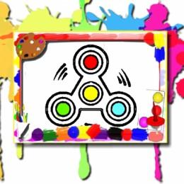 Fidget Spinner Coloring Book